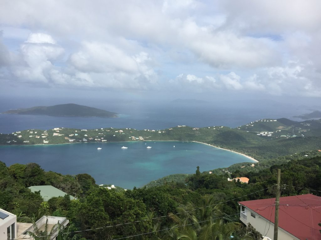 St. Thomas, Virgin Islands. 8.7/10, not sure why they love banana-flavored rum so much, otherwise a perfect beach getaway
